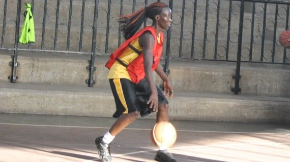 Hilda Indasi in training with the national team