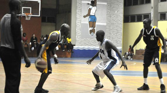 Lugasi (center) against USIU in a past match