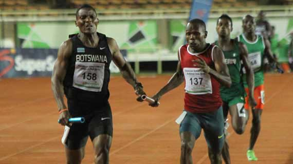 Botswana holds off Kenya in thrilling sprint action