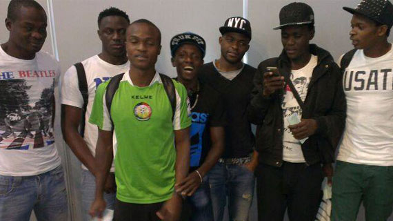 Stars land back from Sudan