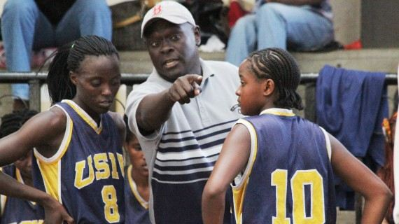 USIU Coach giving instructions to his players