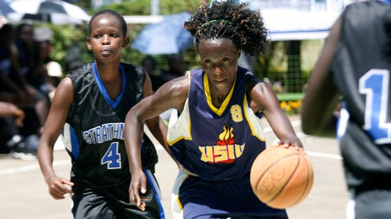 Hilda Indasi during the KUSA games