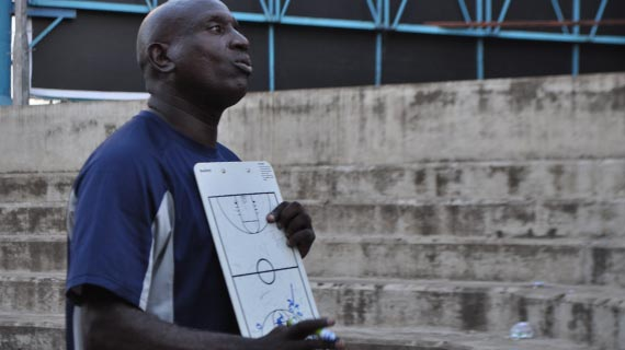 USIU Tigers' coach before the match on Wednesday