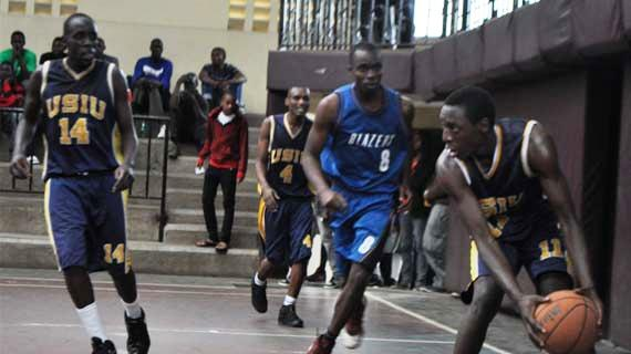 USIU vs Blazers in a past premier league match