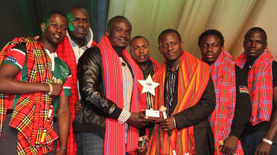 Kenya 7's wins team of the year award during SOYA