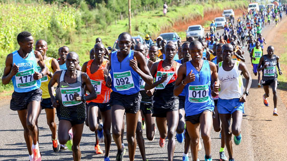 Lumbasi,Chelimo shine at the Iten Road Race
