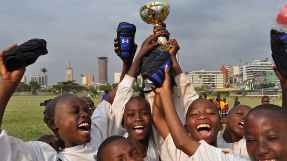 Nakuru's Walkers Youth  lift the Nairobi International Cup