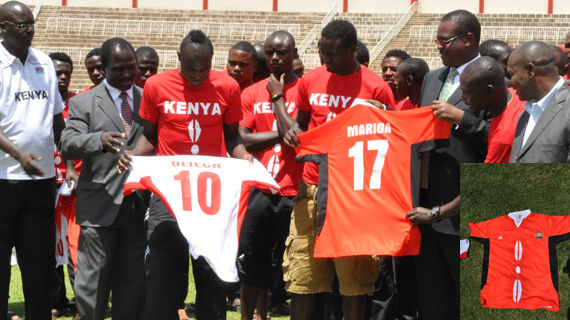 New Harambee Stars' jersey unveiled