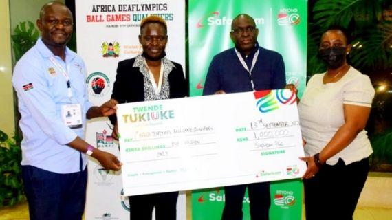 Safaricom boosts Kenya Deaflympics kitty