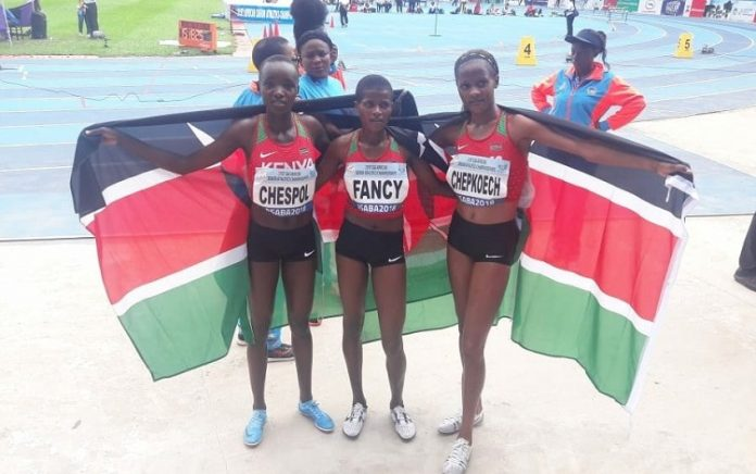 It is a Clean Sweep as Kenya win 3000m steeplechase