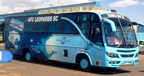 AFC's 'Monster' bus hits the road