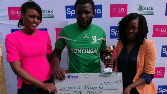 Agwanda named KPL July player of the month