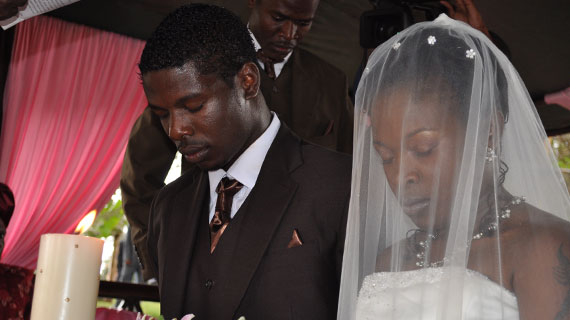 Allan Wanga and Brenda Mulinya tie the knot