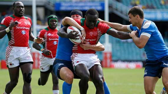Wanyama motivates rugby team with  2000 Pounds personal gift ahead of London 7's