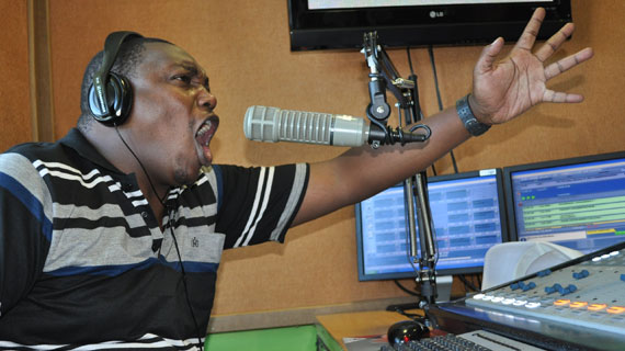 Behind the microphone with Radio jambos Peter Kirumba