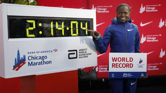Kosgei smashes world record as Kenya bags double glory in Chicago