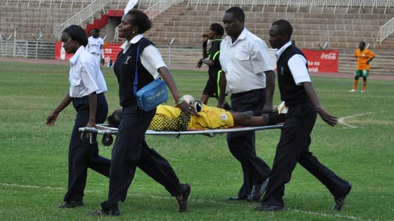 Injured Zambian keeper out of danger