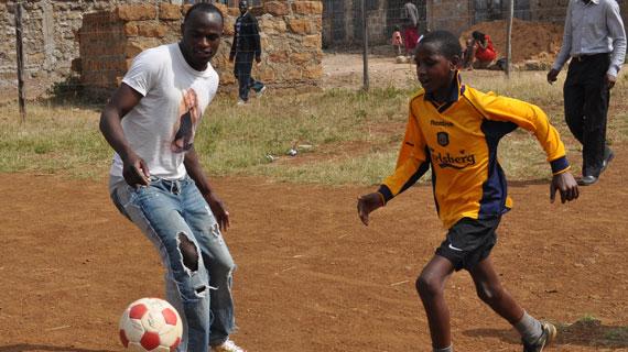 Maina Kageni boys humble Harambee Stars in a Charity Match