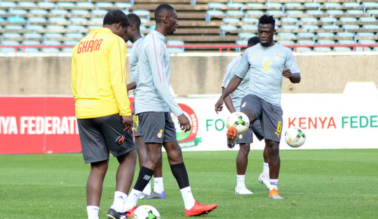 Ghana train in Nairobi ahead of Harambee Stars game