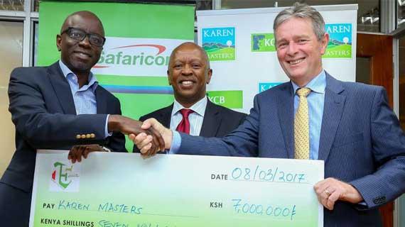 Safaricom's  Kshs.7 Million boost  for Karen Masters Golf Tournament