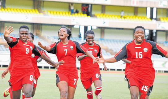 Harambee Starlets squad in camp for CECAFA Women Championships