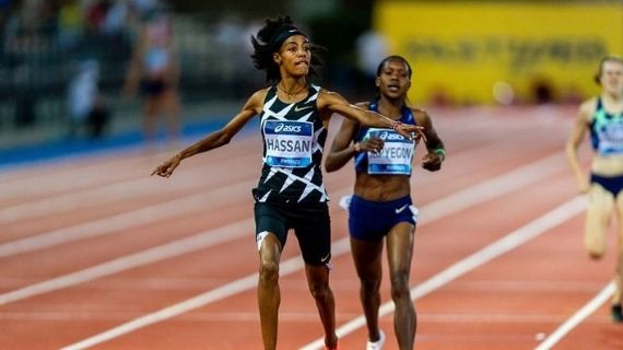 Kipyegon pushes Hassan to 1500m world lead at Florence Diamond League meet