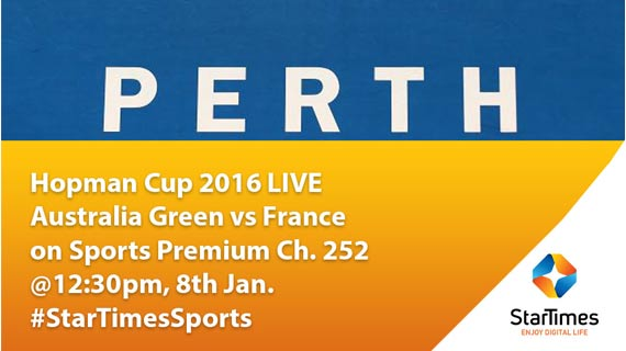 Hopman Cup final action  Live on StarTimes