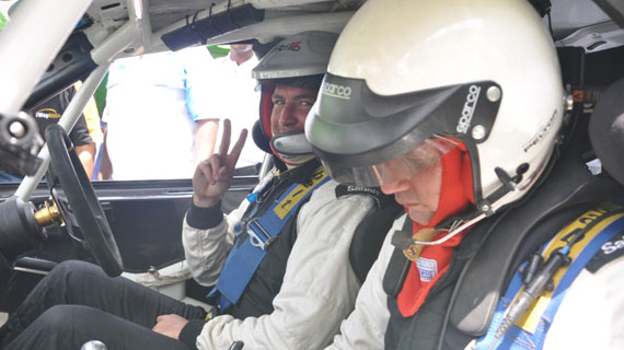 Raaji Bharij in an overnight lead of Nanyuki rally