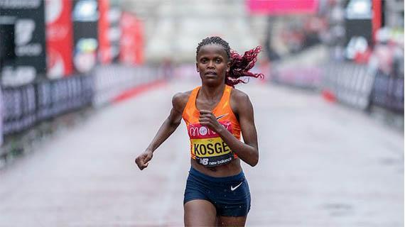 Bridgid Kosgei wins 2020 London Marathon crown