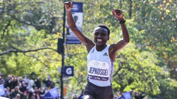 Kamworor , Jepkosgei win New York Marathon