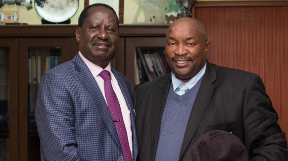 Raila meets with PSL side Jomo Cosmos owner