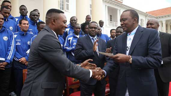 President Uhuru hosts Sofapaka at State House