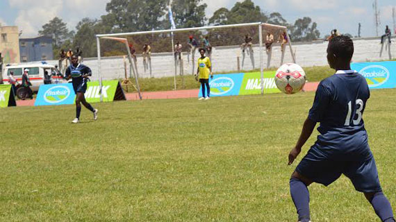 Kaloleni win girls soccer opener at the East Africa School Games