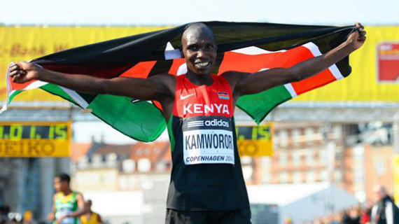 Kamworor roars to World Half Marathon hatrick in Valencia