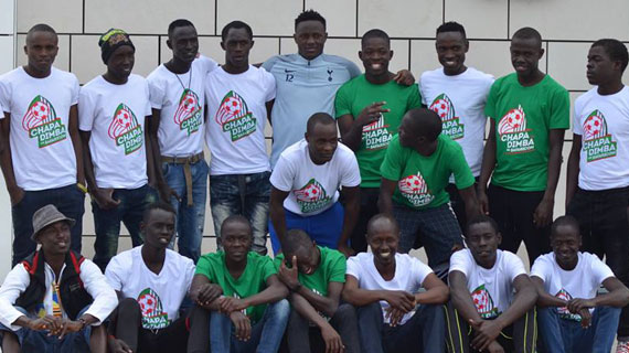 Chapa Dimba champions meet Victor Wanyama in London
