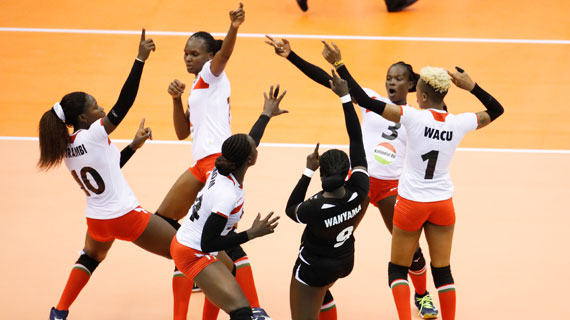 Volleyball AFCON: Kenya's Malkia's Strike Defending Champions