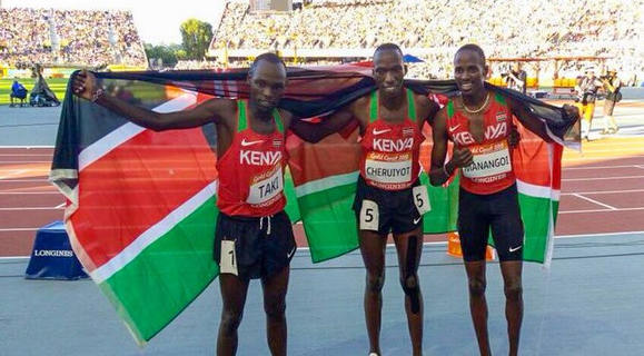 Gold for Manangoi , Silver for Cheruiyot in 1500m