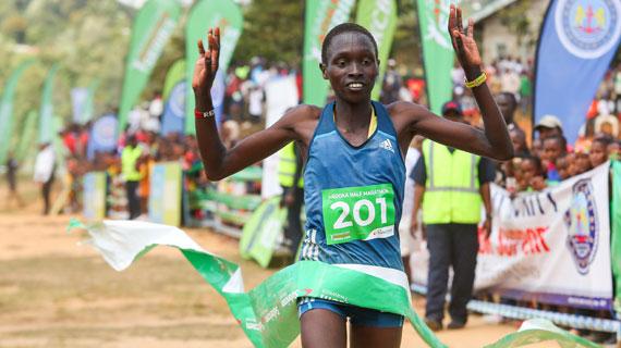 Meringor  and Muindi win Madoka Half Marathon