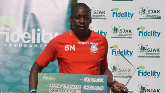 Mwalala belatedly named May-June Fidelity Coach of the Month