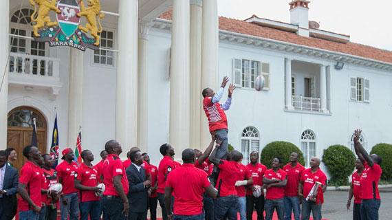 Big payday as President Uhuru meets rugby team