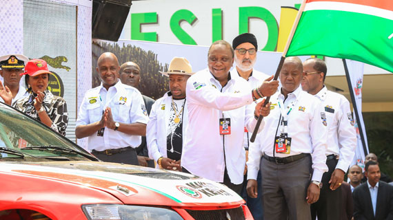President Kenyatta flags off historic Safari Rally