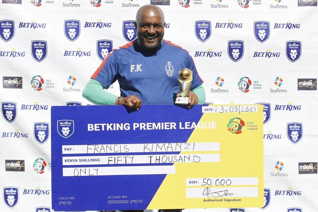 Kimanzi is January's FKFPL coach of the month