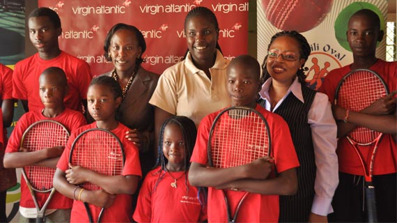 Virgin Atlantic joins to Support Sadili Oval Tennis camp