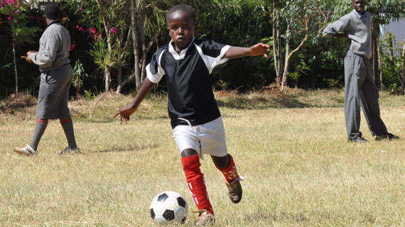 Simon Ndaberi juggling between Machachari and Soccer