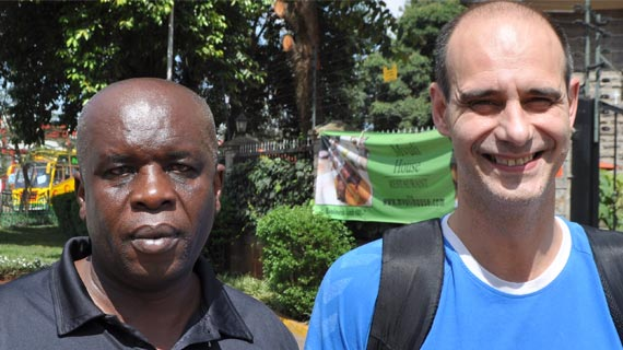 Spanish Handball Coach instructor in Kenya for training