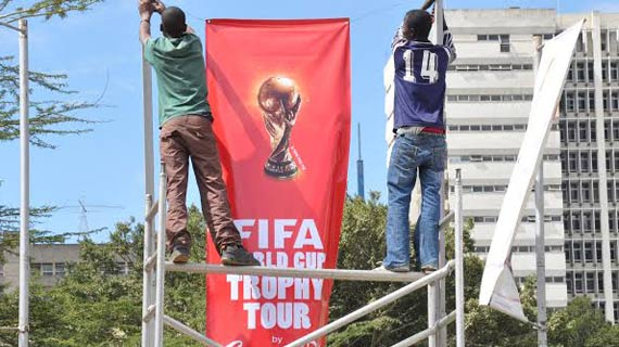 World Cup trophy lands in Nairobi on Wednesday