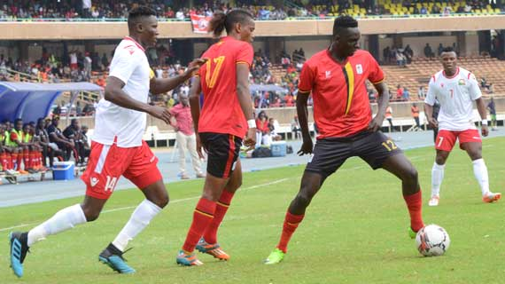 Harambee Stars and Uganda Cranes play to a one all draw