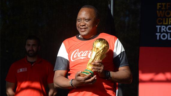 President Uhuru receives FIFA Trophy, pledges to tap talents