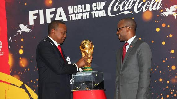 World Cup trophy heads to Tanzania