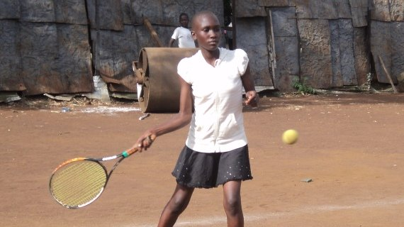 Lindah Janet Shines at the Amani Tennis